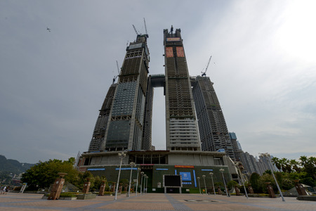 Chongqing Chaotianmen Raffles Square under construction