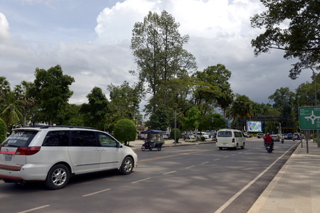 Street view of Siem Reap province, Cambodia Editorial
