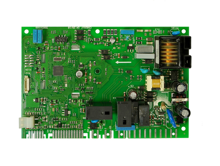 control board with electronic components and microcircuits Banque d'images