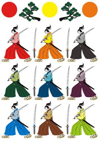 サムライ  イラスト・ベクター素材