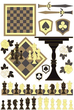 チェス  イラスト・ベクター素材