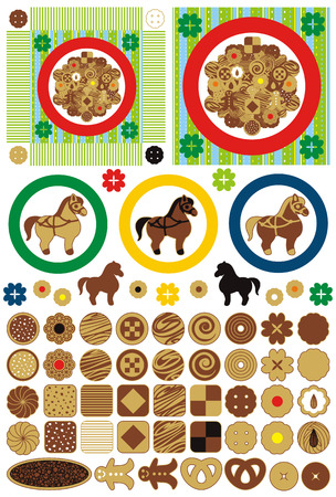 素敵なクッキーやお菓子 写真素材 - 24373125