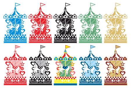 merry go round: merry-go-round