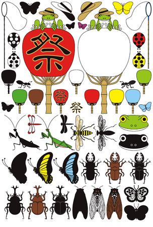 昆虫やカエル