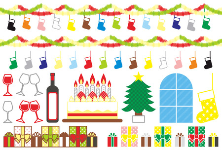 クリスマス素材  イラスト・ベクター素材