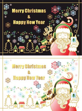 gorgeous Santa Claus  イラスト・ベクター素材