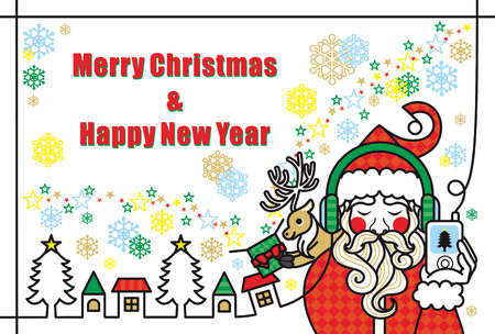 Merry Christmas and Happy New Year  イラスト・ベクター素材