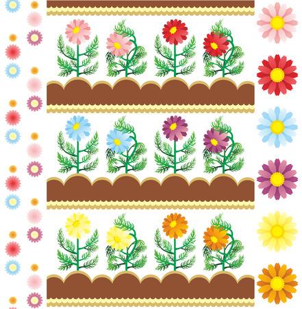 花の画像  イラスト・ベクター素材