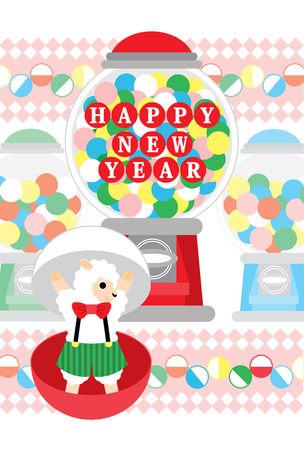 HAPPY NEW YEAR capsule toy sheep