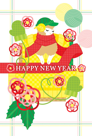 winter image NEW YEAR CARD