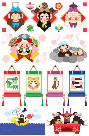 monkey year illustrations