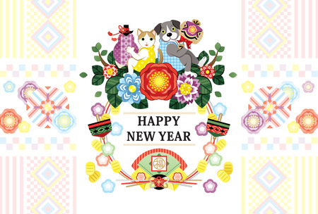 New years greeting card template Illustration