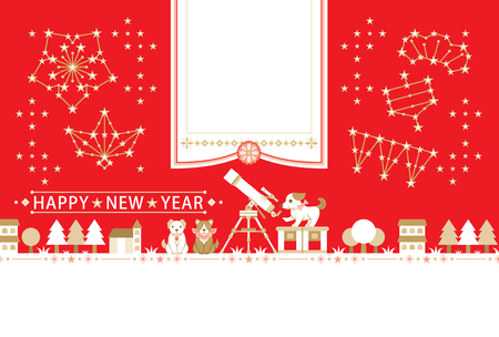 New Years card template . Illustration