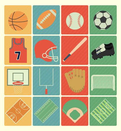 equipe sport: ic�nes de sports d'�quipe Illustration