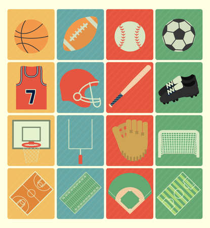 team sports: team sports icons Illustration
