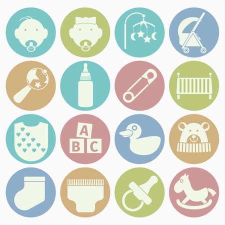 bib: baby icons set Illustration