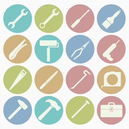 tool icons set Illustration