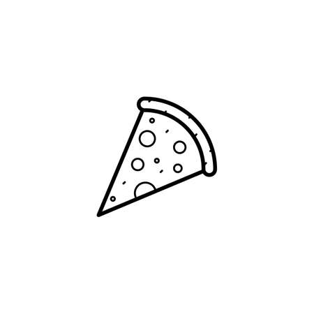 pizza, food icon vector illustration 向量圖像
