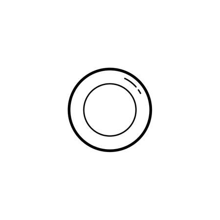 plate, dish icon vector illustration