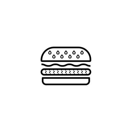 burger, hamburger icon vector illustration