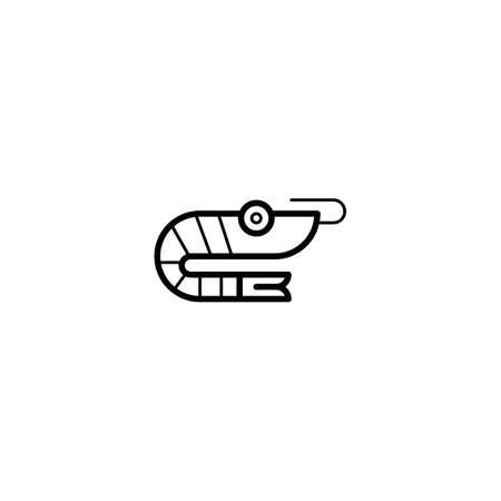 shrimp, prawn icon vector illustration