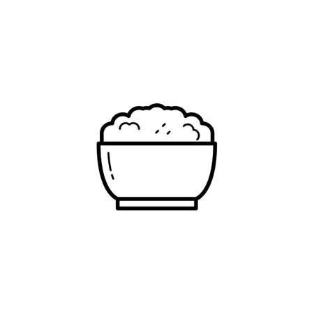 rice, food icon vector illustration
