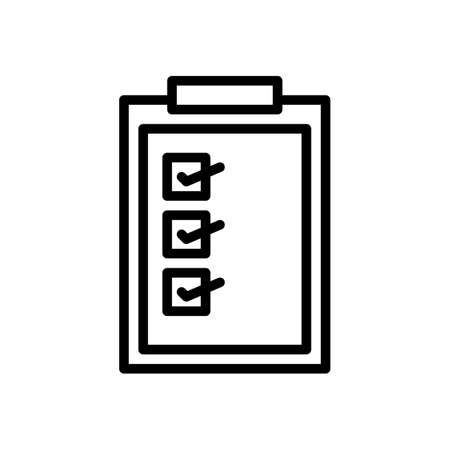 checklist, marketing icon vector illustration Vettoriali