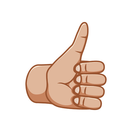 Hand gestures, great design for any purposes. Ok sign. Good sign. Gesture line icon. Hand gestures illustration. Human vector gestures. White background. Ilustracja