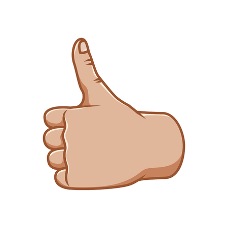 Hand gestures, great design for any purposes. Ok sign. Good sign. Gesture line icon. Hand gestures illustration. Human vector gestures. White background. Ilustrace