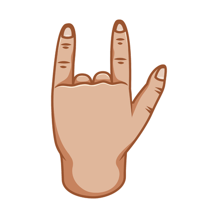 Hand gestures, great design for any purposes. Cool sign. Good sign. Gesture line icon. Hand gestures illustration. Human vector gestures. White background.