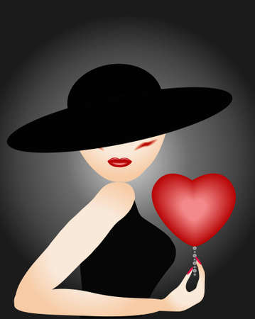 The lady with heart.
