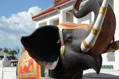 pattani thailand: estatua de elefante. Foto de archivo