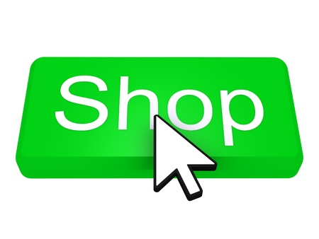 shop button: Green Shop button with a cursor on top of it