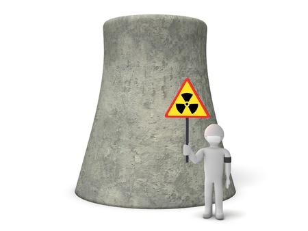riesgo quimico: Protesta contra la energ�a nuclear Foto de archivo