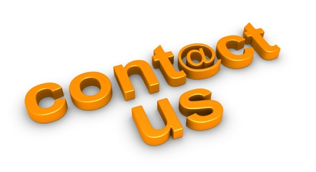 3d contact us: 3d contact us word using e-mail symbol on the ground Stock Photo