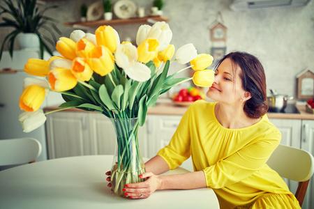 Fashion style photo of a spring women