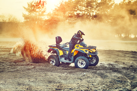 Cross-country quad bike race, extreme sports Banque d'images