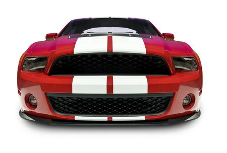 front bumper: American Muscle Car Editorial