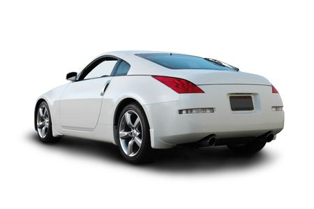 rear wheel: White Japanese Sports Car Rear