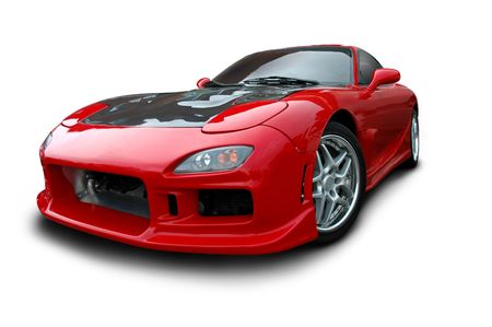 asian sport: Red 1990s Sports Car