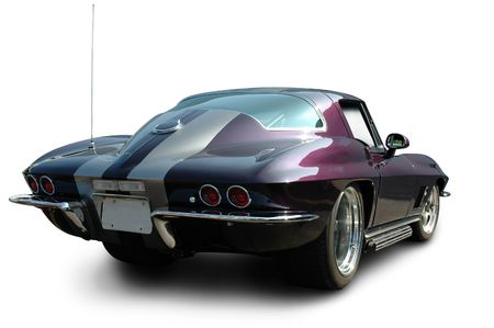 chevy: Purple Muscle Car Rear