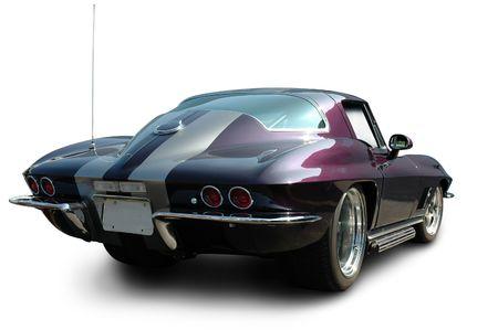 drag race: Purple Muscle Car Rear