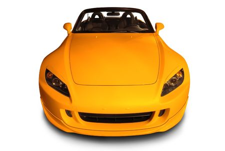 front bumper: Yellow Sports Convertible