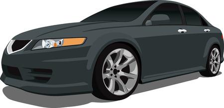 scheinwerfer: Vector japanischen Luxus-Auto Illustration