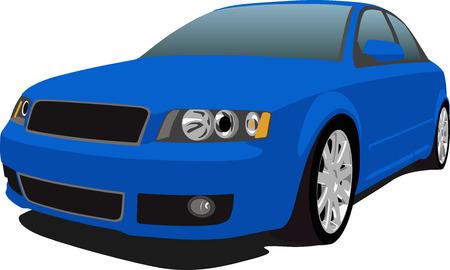 Blue German Sedan