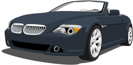 convertible car: Alem�n de lujo convertible  Vectores