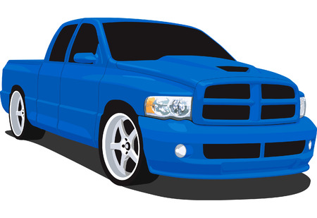 pickup: Sport Pickup Truck Illustration