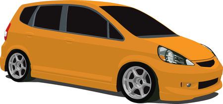 Japanese Compact Car Vector