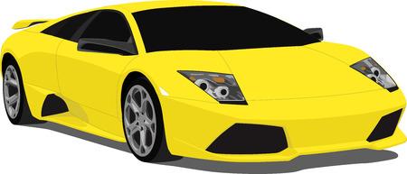 exotic car: European Sports Car Illustration