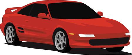 1990s Japanese Sports Car Vector